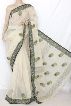 Baige Handwoven Bengal Tant Cotton Saree (With Blouse) 13142 Jute, Cotton Sarees Handloom, Indian Saris, Chiffon, Satin, Fancy Sarees, Bengal, Ethnic, Hand Weaving