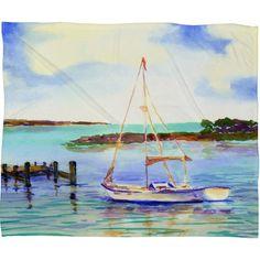 East Urban Home Laura Trevey Summer Sail Throw Blanket Size: Medium