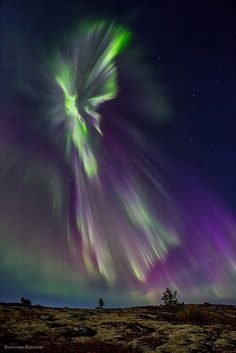 Northern lights in Murmansk region, Russia by Valentin Zhiganov