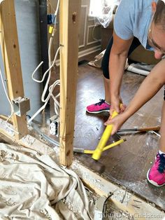 Tips and tricks on how to remove an interior wall! #DIY #walls #homeremodel