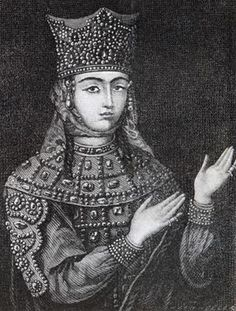 Queen Tamar of Georgia. A engraving Historical Costume, Historical Photos, Old Photos, Vintage Photos, Modern Empire, Georgie, Georgia Country, Turkish Army, New Museum