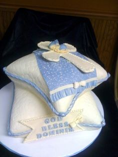 Baptism cake By ctirella on CakeCentral.com www.facebook.com/SweetInspirations2012.