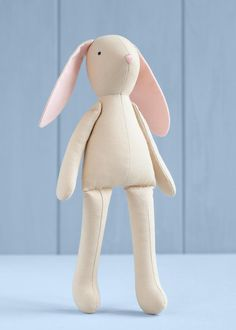 PDF Bunny Sewing Pattern & Tutorial — DIY Animal Rag Doll, Soft / Stuffed Toy, Bunny pattern, Bunny Doll with Clothes, Bunny Dress up Doll Doll Patterns Free, Doll Sewing Patterns, Sewing Toys, Diy Doll Pattern, Teddy Bear Patterns Free, Teddy Bear Sewing Pattern, Pattern Sewing, Fabric Toys, Paper Toys