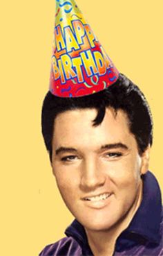Happy Birthday Wishes With Elvis Presley Elvis Presley's Birthday, Happy Birthday Elvis, Happy Birthday Funny, Happy Birthday Quotes, Happy Birthday Images, Happy Birthday Greetings, Birthday Memes, Birthday Pictures, Birthday Card Sayings