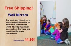 Childcare, Daycare and Preschool Wall Mirrors