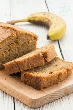 """Bananenbrot (Banana Bread) The banana bread is really nice juicy, soft, fruity and slightly caramel-tasting. In this banana bread, I could literally get into it! As is typical for banana bread, it is actually more a cake than a """"bread"""". Banana Bread French Toast, Baked French Toast Casserole, Healthy Banana Bread, French Toast Bake, Dessert Oreo, Banana Bread Recipes, Vegan Cake, Easy Snacks, Sweet Recipes"""