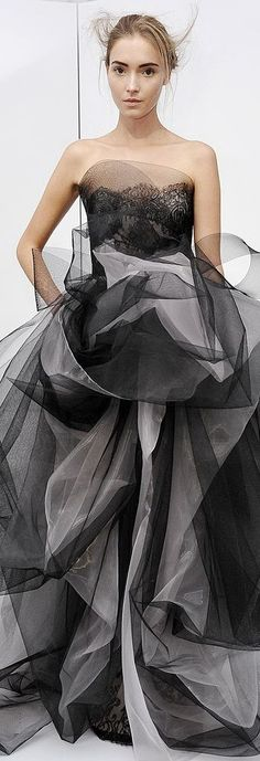 Ball Gowns, Strapless Dress, Fashion Black, Marchesa, Formal Dresses, Evening Gowns, Dress Up, Fashion Dresses, Black And White