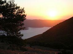Sun sets in Ithaca, Greece - August 2005
