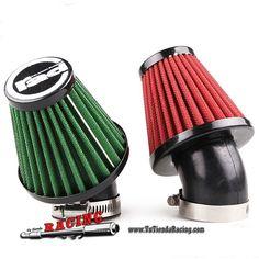 """Filtro de Aire Moto 45º Estilo Racing Tamaños 35mm 42mm 48mm """"Mushroom"""" Varios Colores -- 17,63€"""