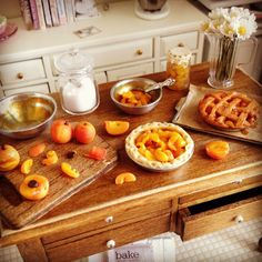 Making peach pie 1:12