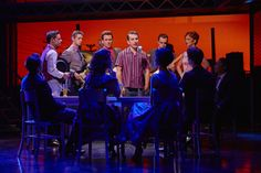 Michael Watson as Frankie Valli (centre) with the cast of JERSEY BOYS credit Brinkhoff & Mögenburg Frankie Valli, Jersey Boys, London Theatre, It Cast, Centre