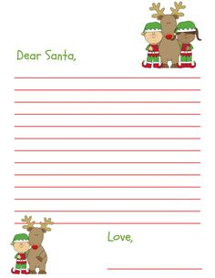 We all have favorite Christmas traditions. When I was a child, one of my favorite traditions was writing a letter to Santa. Here's a free Dear Santa letter!