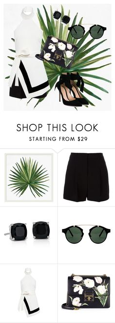 """""""Untitled #57"""" by najwaguru ❤ liked on Polyvore featuring Pottery Barn, DKNY, Blue Nile, Spitfire, Finders Keepers, Dolce&Gabbana and Gianvito Rossi"""