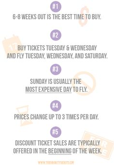 Tips for buying plane tickets