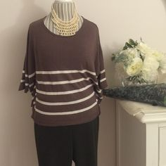 """SHAE Unique stripe top size S Great condition size s 20"""" from shoulder. Cotton. Arms has a stitch good shape. Easy ware. Casual Quilty: good no damage SHAE Tops Tees - Short Sleeve"""