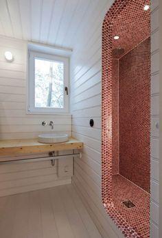 Awesome cabin bathroom