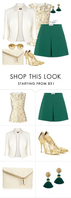 """""""When life gives her """"GRINS"""" she makes golden FASHION out of it"""" by theschmidttribe on Polyvore featuring STELLA McCARTNEY, Valentino, Phase Eight, Oscar de la Renta, Henri Bendel, Rock 'N Rose and Giorgio Armani"""