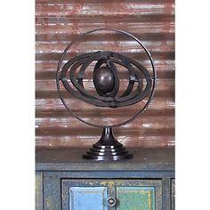 15 in. Armillary Decorative Sculpture, Bronze