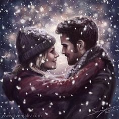 Snow Day for #CaptainSwan! #OUATFanArtExpo #OnceUponATime #Oncers