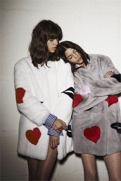 MSGM F/W 2014 Campaign |  Antonina Petkovic and Kate Bogucharskaia photographed by Giampaolo Sgura