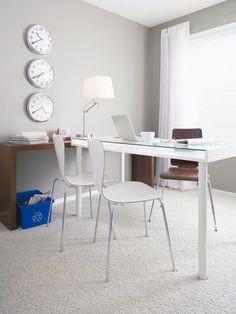 Despacho en grises y blancos