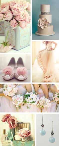 A wedding blog for gauteng brides: Vintage blue, blush and ivory inspiration board