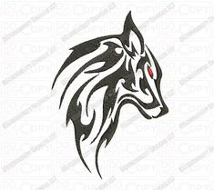 Wolf Tribal Tattoo Embroidery Design in by Wolf Tattoos Men, Tribal Wolf Tattoo, Animal Tattoos For Men, Wolf Tattoo Design, Wolf Design, Black Tattoos, Body Art Tattoos, Tatoos, Angel Warrior Tattoo