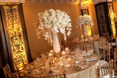 white wedding reception - Google Search