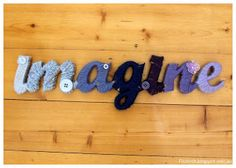 Wool wrapped letters - Step by step tuturiol.