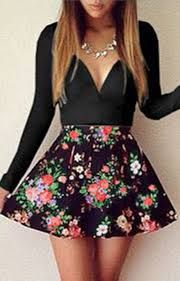 Resultado de imagen para vestidos floreados cortos manga larga