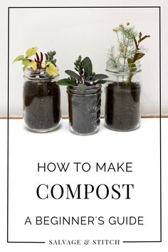 If you've ever wondered how to make compost but were too afraid to try, get some of your questions answered here. Starting a compost pile is easy and a great way to use kitchen scraps in the garden! Composing helps the earth, and makes your garden grow bigger and better. Composing is a great way to combat food waste and get something from nothing!