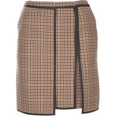 BALENCIAGA checked skirt ($1,305) found on Polyvore