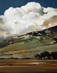 Amazing painting by joseph alleman Watercolor Landscape, Landscape Art, Landscape Paintings, Watercolor Art, Watercolor Clouds, Wow Art, Art Photography, Photos, Pictures