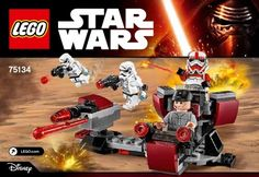 LEGO 75134 Galactic Empire Battle Pack instructions displayed page by page to help you build this amazing LEGO Star Wars set Lego Star Wars, Star Trek, Jouet Star Wars, Lego Boxes, Micro Lego, All Lego, Lego War, Construction, The Empire Strikes Back