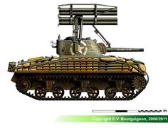 M4A3 Sherman Calliope (late production model)
