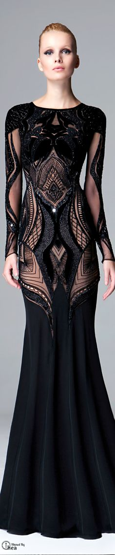 Zuhair Murad / FW 2014-15 / dress / black / amazing <3