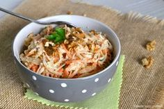 Salade de céleri rave et carotte aux noix