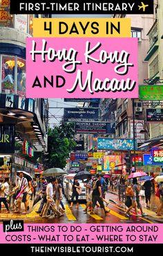 4 Day Hong Kong Itinerary: Complete Guide + Macau Day Trip • The Invisible Tourist #hongkong #macau #macao #hongkongitinerary #macauitinerary #macaudaytrip #daytripfromhongkong #hongkongtravel #thingstodoinhongkong #thingstodoinmacau #hongkongattractions #macauattractions