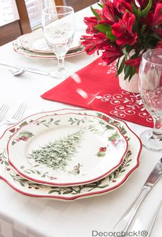 Christmas Plates | Decorchick!®  Walmart dishes