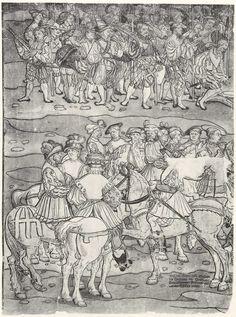 Artist: Breu, Jörg d. Ä., Title: Die Belehnung König Ferdinands mit den österreichischen Erblanden, Detail [13/23], Date: 1530