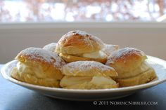 Fastelavnsboller (Shrovetide Buns) marks the three days running up to Lent, which was historically a period of fasting and abstinence.  Fastelavn also traditionally marks the beginning of a period of feasting before the austere Lent period. It is said that one tradition at this time in Norway was to eat nine meals in each corner of the house.