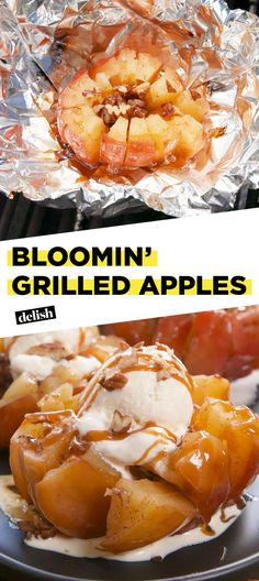 Bloomin' Grilled Apples Will Slay Any Summer BBQ - Bloomin' Grilled Apples Wi. - Bloomin' Grilled Apples Will Slay Any Summer BBQ – Bloomin' Grilled Apples Will Slay Any Sum - Grilled Apple Recipe, Grilled Fruit, Grilled Shrimp, Grilled Salmon, Grilled Chicken, Fruit Recipes, Summer Recipes, Cooking Recipes, Healthy Recipes