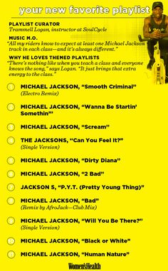 Fitness Tips : Illustration Description Read more about Logan's special Michael Jackson-themed ride at SoulCycle at www.womenshealthm… -Read More – One Song Workouts, Cheer Workouts, Workout Songs, Morning Workouts, Bike Workouts, Workout Ideas, Fitness Workouts, Spin Playlist, Playlist Ideas