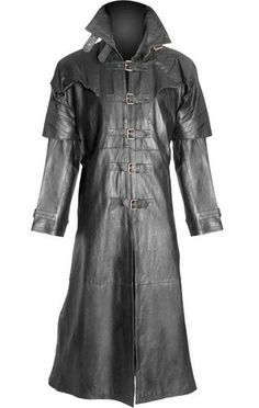 ea75d97f5510 Mens 100% Pure Leather Goth   Steampunk Gothic Van Helsing Matrix Trench  Coat Long Leather