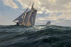 "Donald Demers ""Riding the Atlantic"" 12x18 - oil"