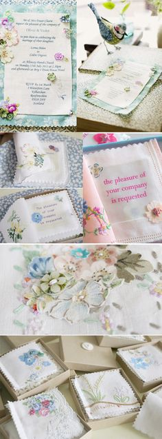 the vintage drawer - invitations