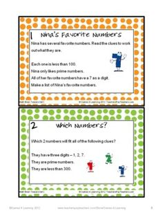 Tease their brains with these math brain teasers. This collection of Printable Math Problems and Math Brain Teasers Cards from Games 4 Learning contains 66 printable math brain teasers. $