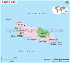 Political Map of Aruba Oranjestad, Aruba Map, Learn Another Language, Learn Spanish, Netherlands, Charts, Journals, Politics, Education
