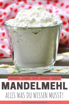 Nutritional values, recipes, taste and use of deoiled almond flour: In this article you will find the most important information about deoiled almond flour in a nutshell. Low Fat Diets, High Fat Diet, Low Carb Recipes, Real Food Recipes, Healthy Recipes, Paleo Dessert, Low Carb Mehl, Low Carb Cookies, Keto Diet Benefits