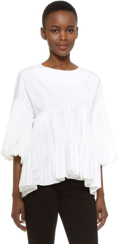 Dense pleats lend dramatic flare to this scoop-neck top. Style Mafia Cecile Top